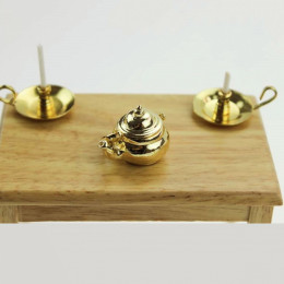 Чайник для кукол Урсула золотистый