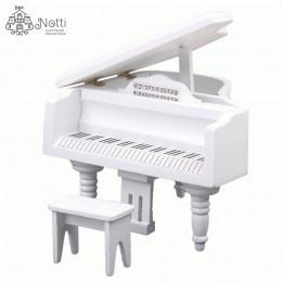 Рояль для кукольного домика Манго белый