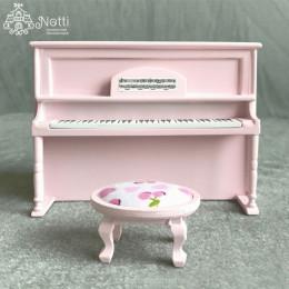 Пианино для кукольного домика Колломия розовое