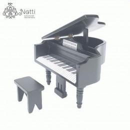Рояль для кукольного домика Манго черный