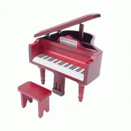 Рояль для кукольного домика Манго амарант
