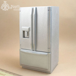 Холодильник для кукольного домика Лотос металлик