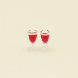Два бокала с вином для кукол 100045