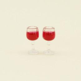 Два бокала с вином для кукол 100048