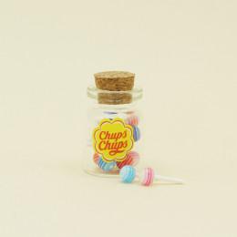 Банка с конфетами Чупа-чупс для кукол