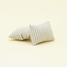 Набор подушек для кукольного домика серая полоска