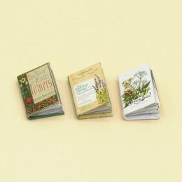 Набор книг по ботанике в твердом переплете для кукол
