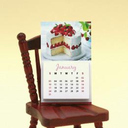 Календарь на 2021 год для кукол Клубничный торт