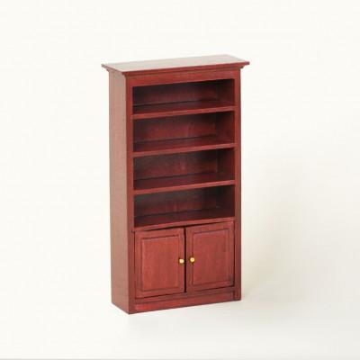 Книжный шкаф для кукольного домика одна секция амарант