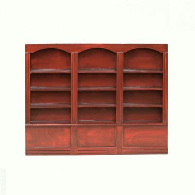 Книжный шкаф для кукольного домика три секции амарант