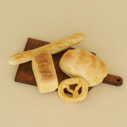 Набор хлебных изделий на доске