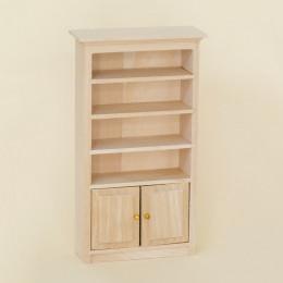 Книжный шкаф для кукольного домика одна секция липа