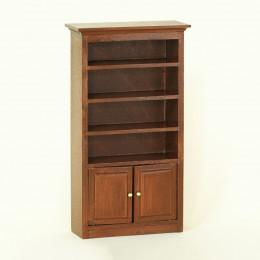 Книжный шкаф для кукольного домика одна секция орех