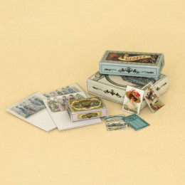 Набор кукольных коробок и карточек для шитья