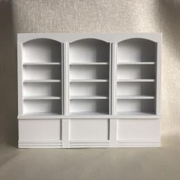 Книжный шкаф для кукольного домика Дрок белый