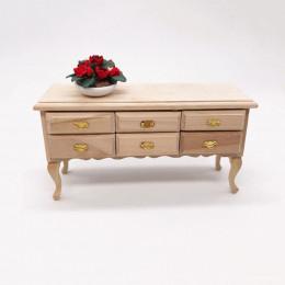 Столик с ящиками для кукольного домика Калатея