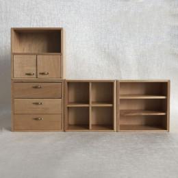 Модульный шкаф для кукольного домика Ирис дуб