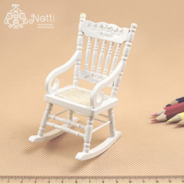 Кресло-качалка для кукол Бегония белое