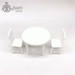 Стол и стулья для кукол Вязель белые