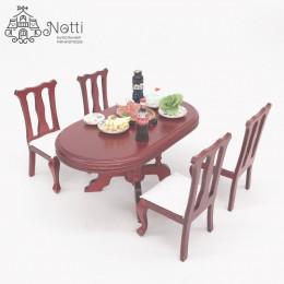 Стол и стулья для кукол Гикори амарант