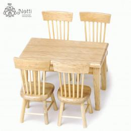Стол и стулья для кукол Деррис липа