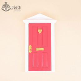 Дверь для кукольного домика Майя красная