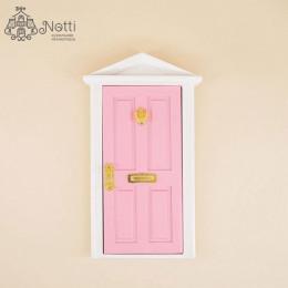 Дверь для кукольного домика Майя розовая