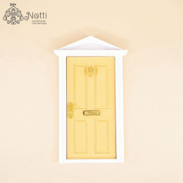 Дверь для кукольного домика Майя желтая