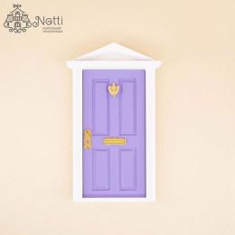 Дверь для кукольного домика Майя сиреневая