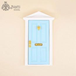 Дверь для кукольного домика Майя голубая