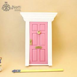 Дверь для кукольного домика Фелис розовая