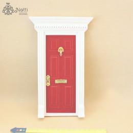 Дверь для кукольного домика Фелис красная