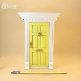 Дверь для кукольного домика Фелис желтая