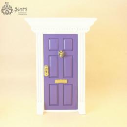 Дверь для кукольного домика Фелис сиреневая
