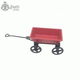 Повозка для кукол красная