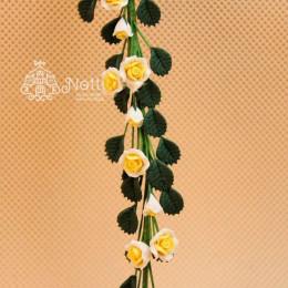 Цветы для кукольного домика Меза белая