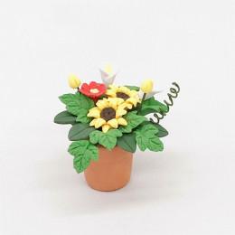 Цветы в горшке для кукольного домика Триба