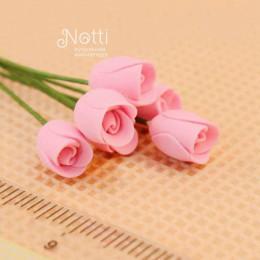 Цветы для кукольного домика Розы Толиман розовые