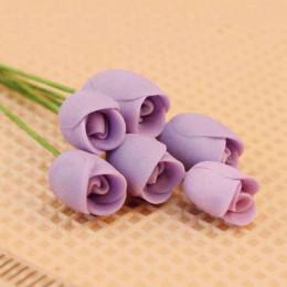 Цветы для кукольного домика Розы Толиман сиреневые