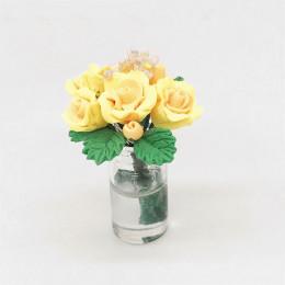 Цветы в вазе для кукольного домика Серисса желтые