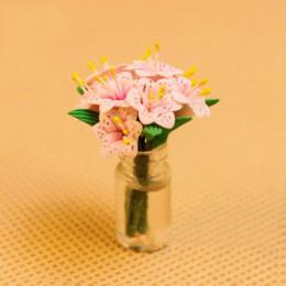 Цветы в вазе для кукольного домика Шеат