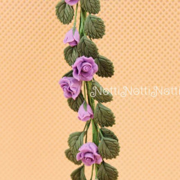Цветы для кукольного домика Меза сиреневая