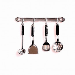 Набор кухонных принадлежностей для кукол хром