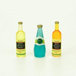 Набор бутылок с вином для кукол Галатина