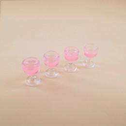 Набор бокалов с вином для кукол Виллага