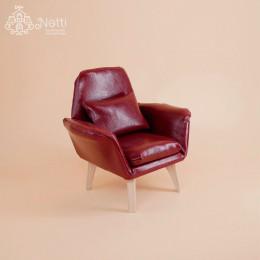 Кресло для кукольного домика Макгроу бордовое