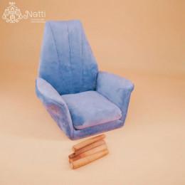 Кресло для кукольного домика Кристи голубое