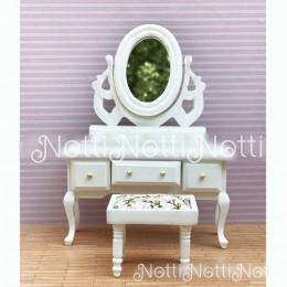 Туалетный столик для кукольного домика Буддлея белый