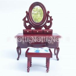 Туалетный столик для кукольного домика Буддлея амарант