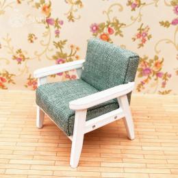 Кресло для кукольного домика Камыш зеленое